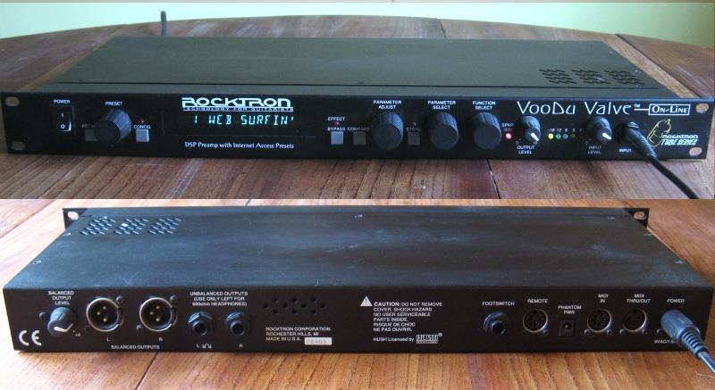 rocktron voodu valve guitar tube pre amp effects processor ebay. Black Bedroom Furniture Sets. Home Design Ideas