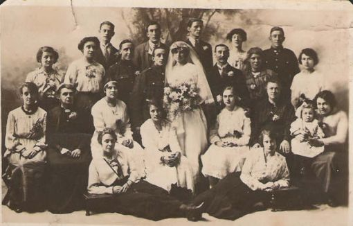 Helens wedding to Harry Adams about 1920