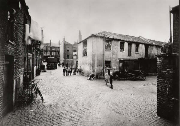 Talbot Mews 1932 prior to demolition Number 3 is where the boys stand on the left
